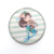 china supplier personalized logo round double sided pretty girl pattern  foldable  metal compact mirror