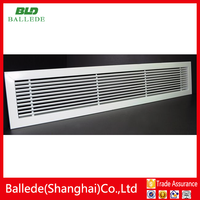 Aluminum linear slot air conditioner ceiling return air grille