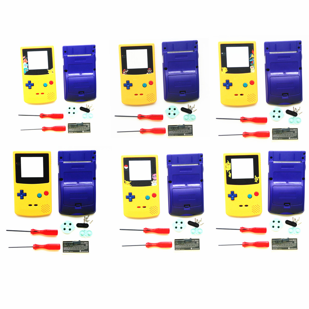 For GBC Pokemon Limitd Version Yellow & Blue Housing Shell For GBC Housing Case Pack