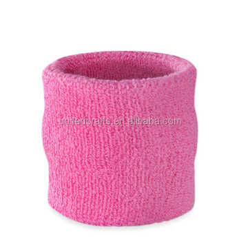 China supplier cheap Unisex Cotton Wrist SweatBand for Sports