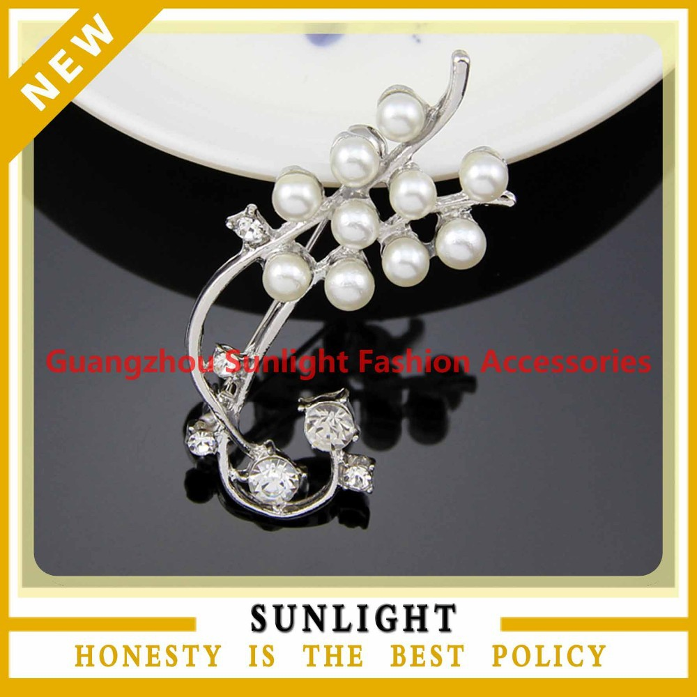 new design real natural pearl wedding brooch
