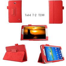 "For Samsung Galaxy Tab 4 7.0 Folio Case Cover with Stand 7"" T230"