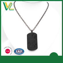 Manufacturer Latest design Die casting sprayed black 925 silver O Ring Jewelry Chain Pendant for couples