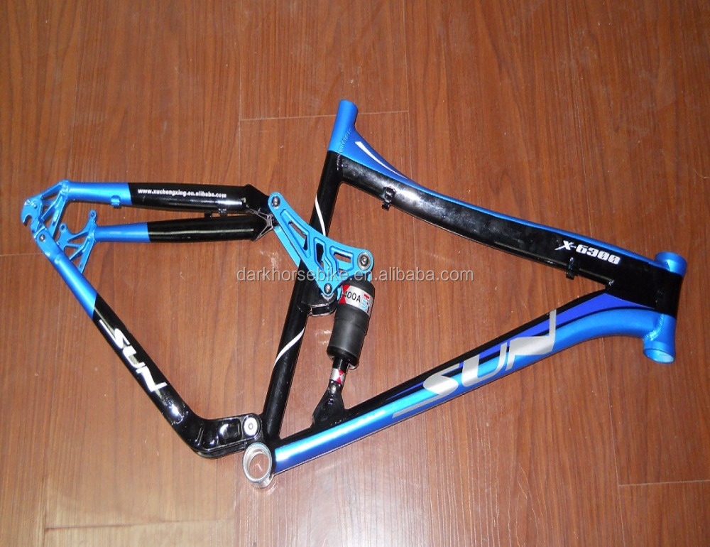 AL-6061 mtb frame with shock absorber,suspension mtb bike frame,mountain bike frame