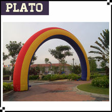 Best quality advertising circle arch/inflatable rainbow arch