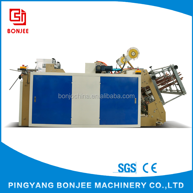 Bonjee Best Sale Double-Position Full Automatic Burger Boxes Making Machine