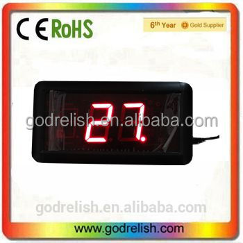 "Godrelish 1.8"" indoor Red 999 days Led counter digital countdown <strong>timer</strong>"