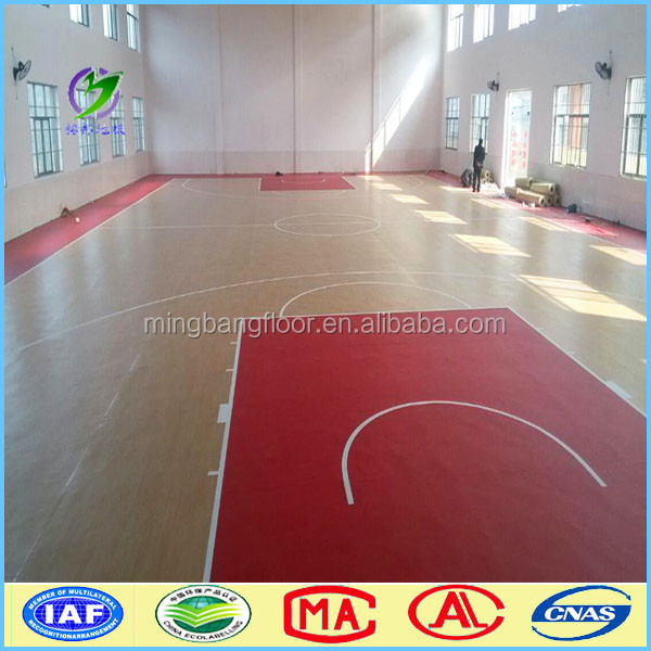 Environmental protection pvc carpet factory direct pvc basketball flooring