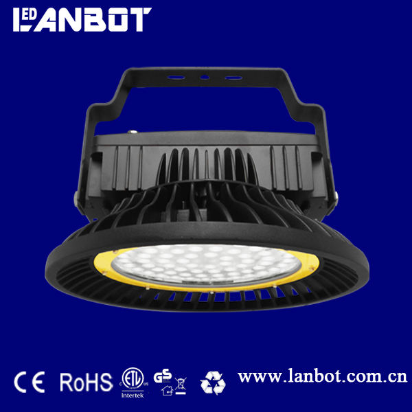 SMD 3030 chip ip 65 UL CE ROHS cetifications square radiator 100w UFO led high bay light