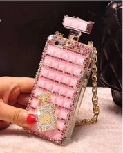 Sex perfume display case with diamond decorate for iphone for samsung in hot selling