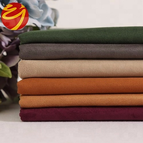 Wholesale woven thick 100% polyester microfiber suede <strong>fabric</strong>