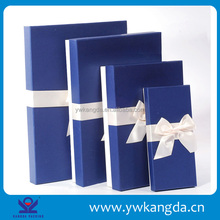 Yiwu factory wholesale blue color high quality paper pet gift box packaging