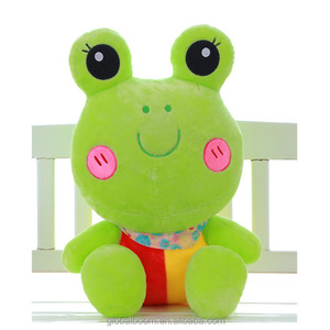 Factory Wholesale Girls Birthday Gifts Green Frog Plush Stuffed Frog Toys