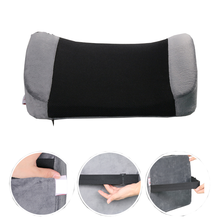 Memory Foam Wedge Pillows Lumbar Back Support Cushion For Office Chair