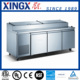 Commercial Pizza Refrigerated Table, ETL/NSF Restaurant Kitchen Equipment with GN Pans and Cutting Boards