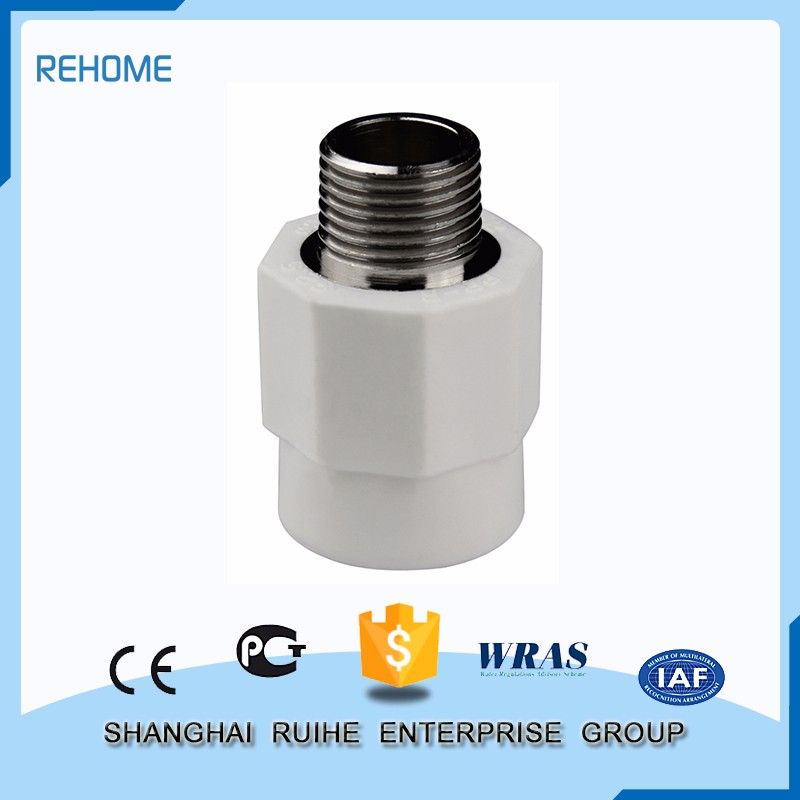 Manufacture good quality fiberglass reinforced Male Threaded Coupling ppr pipe fitting polypropylene fittings