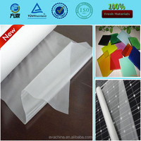Transparent/translucent/opaque colorful EVA film for laminated glass