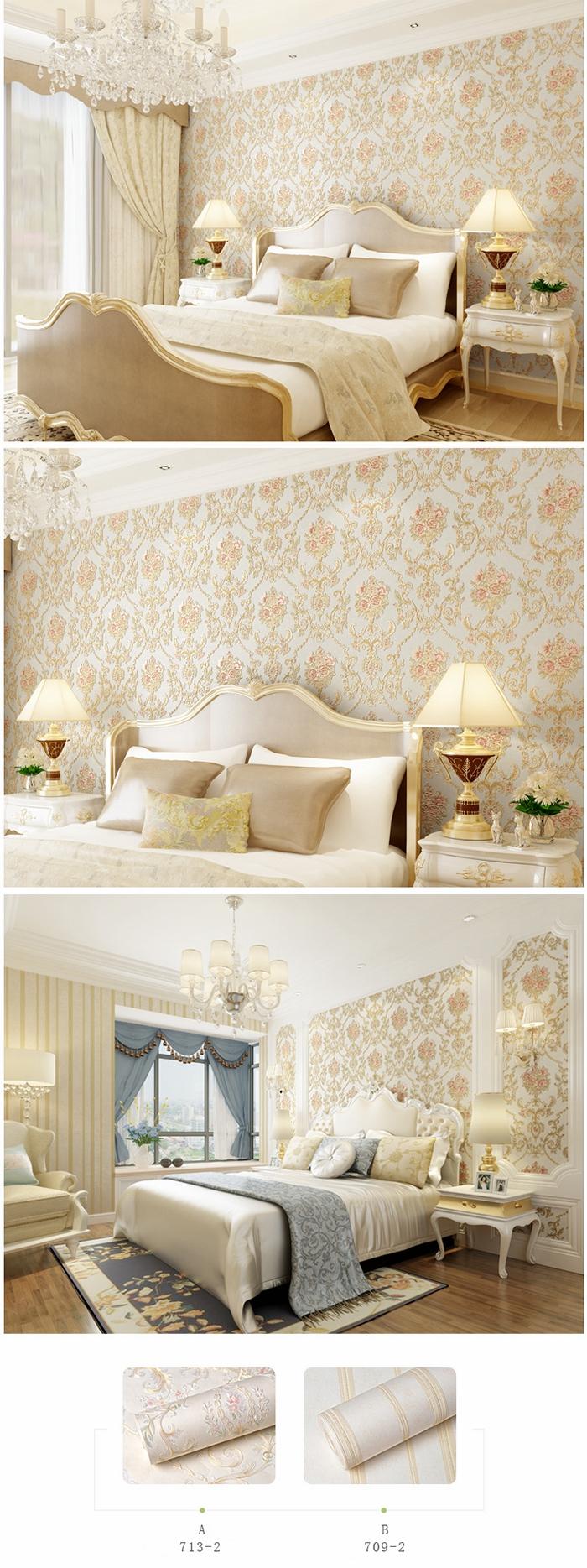 cheap soundproof eco-friendly nonwoven decorative lovely korea design 3d wallpaper rolls