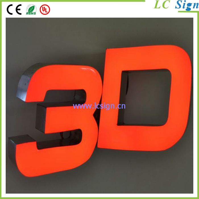 Waterproof LED resin letters for signment