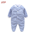 Organic Baby Clothes wholesale Price Baby Long Sleeves Footed Bodysuit