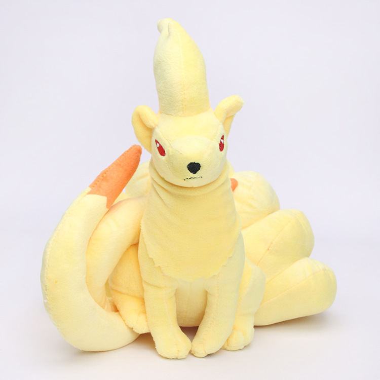 super soft 25cm nine-tailed fox pokemon go toys plush fox baby toy