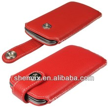 Red Leather Pouch Case for Samsung Galaxy Nexus i9250 Cover
