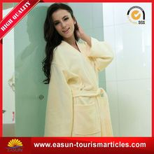 unique promotional coral fleece velour shawl bathrobe