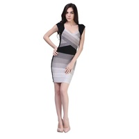 2016 Latest fashion bandage elegant two piece plus size dresses sexy tight bodycon for women dresses online