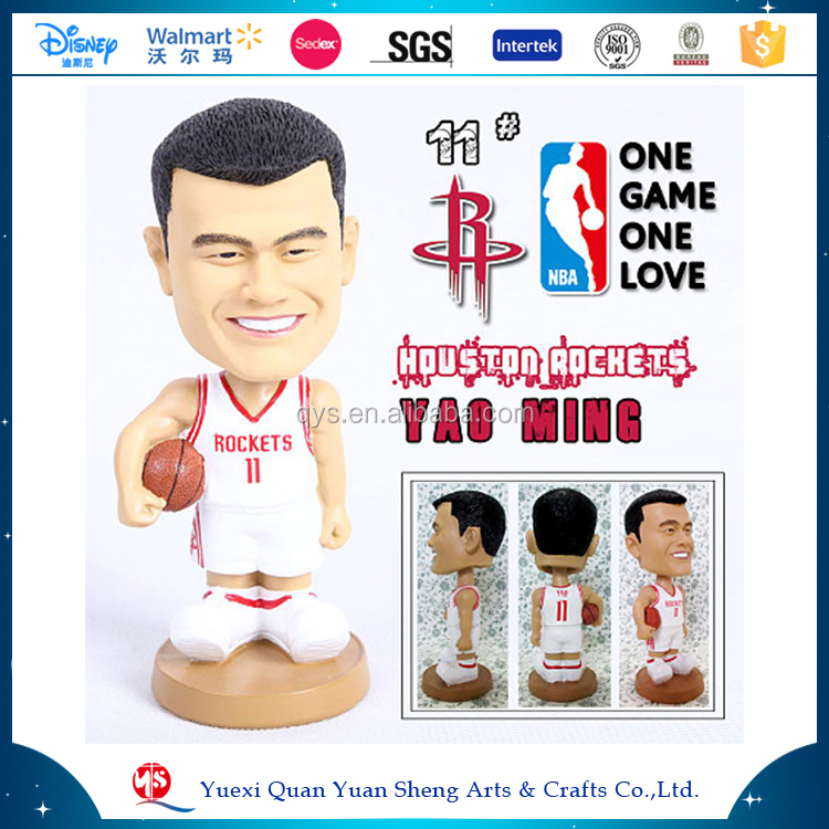 All Star Yao Ming NBA Athlete Sportsman Bobble Head Statue Figurine Souvenir