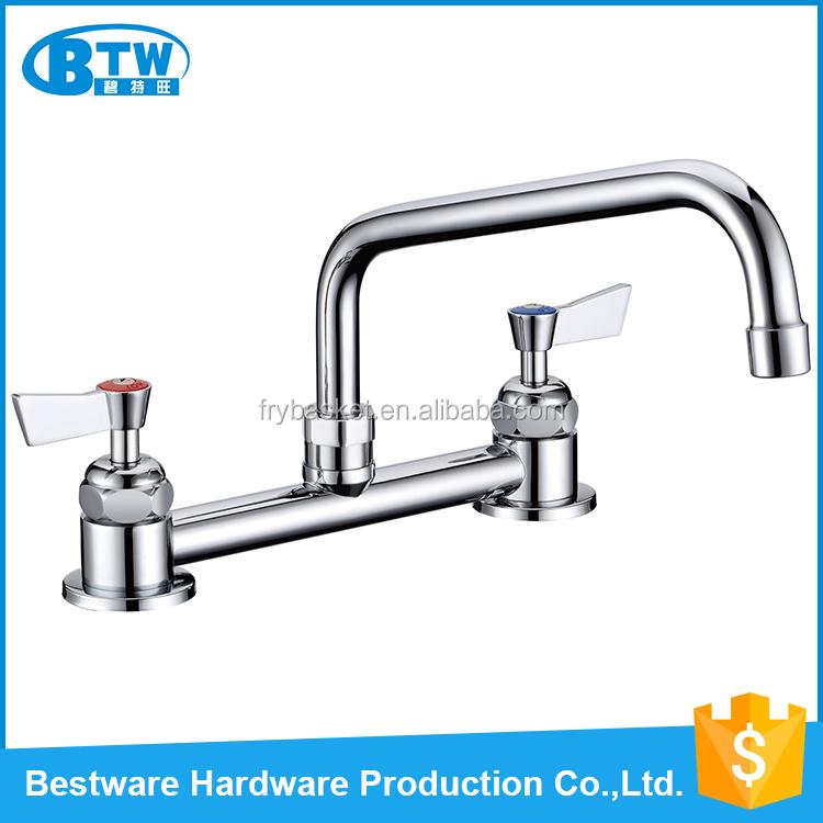 European Modern Design Dual Handle Deck Mounted Water Tap Kitchen Faucet Buy Kitchen Faucet