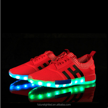 rechargeable women and men battery operated led shoes light