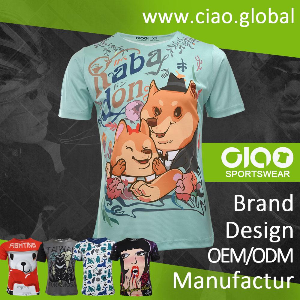 Oem odm for Custom full color t shirt printing