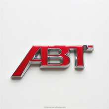 Red ABT Car Rear 3D Letter Custom ABS Sticker Badge Emblem