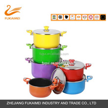 home kitchen colorful aluminium cookware with non-stick coating sauce pot