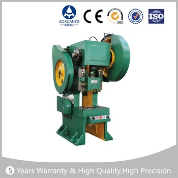 Eccentric press machine, power press punch