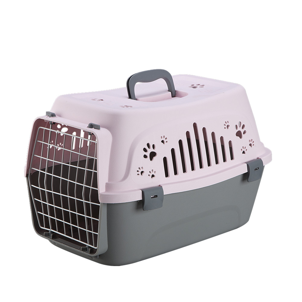 Dog Plastic Pet Carrier Flight Transporting Box