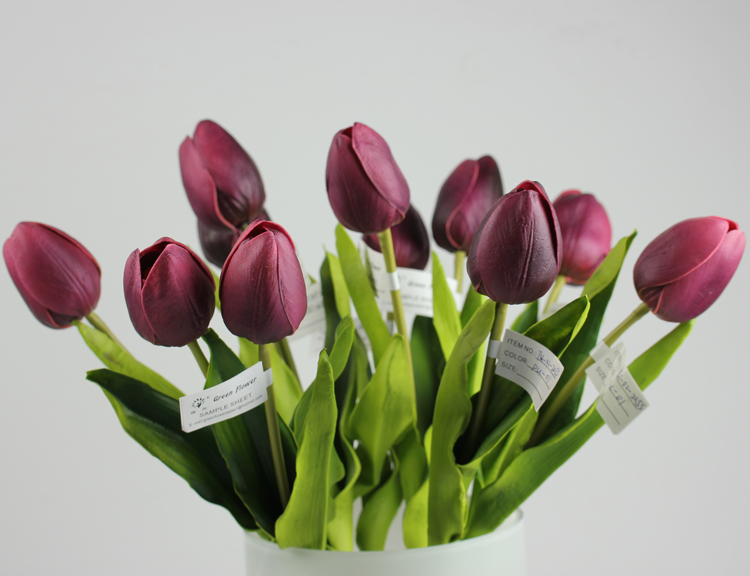 interior decoration artificial flower mini tulip