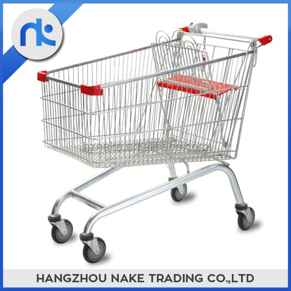 Best choice convenient shopping trolley with 2 children seats