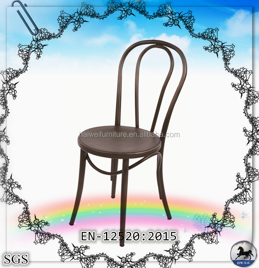 high quality chinese factory antique designs metal dining chair, commercial metal dining chair