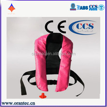 CE and CCS Certificate for Auto Pneumatic Bulge Type Life Jacket with High-Quality Leather and Nylon 600D Fabrics