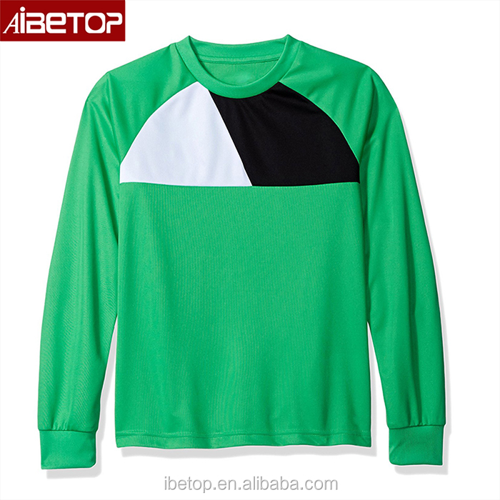2018 New jersey Black green soccer jersey custom pad soccer goalkeeper jersey 2017