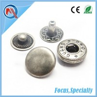 Free Snap Button Sample 10mm Press Metal Snap Button