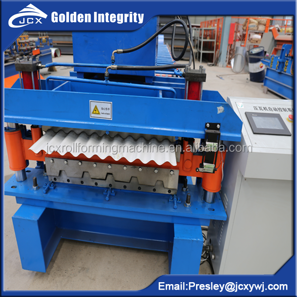 color steel glalvanized corrugated trapezoidal metal sheet roofing sheet machine double layer roof sheet roll forming