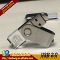 USB Flash Drive 16gb USB 2.0 Metal Crystal Glass swilve LED Light USB flash Drive