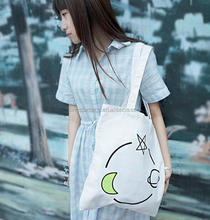 Blank white cotton plain canvas tote bag with inner pocket