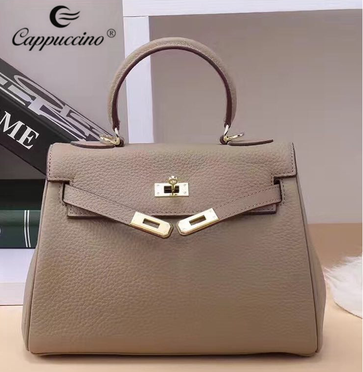 2017 alibaba high quality women genuine leather <strong>bag</strong>, luxury handbag for women