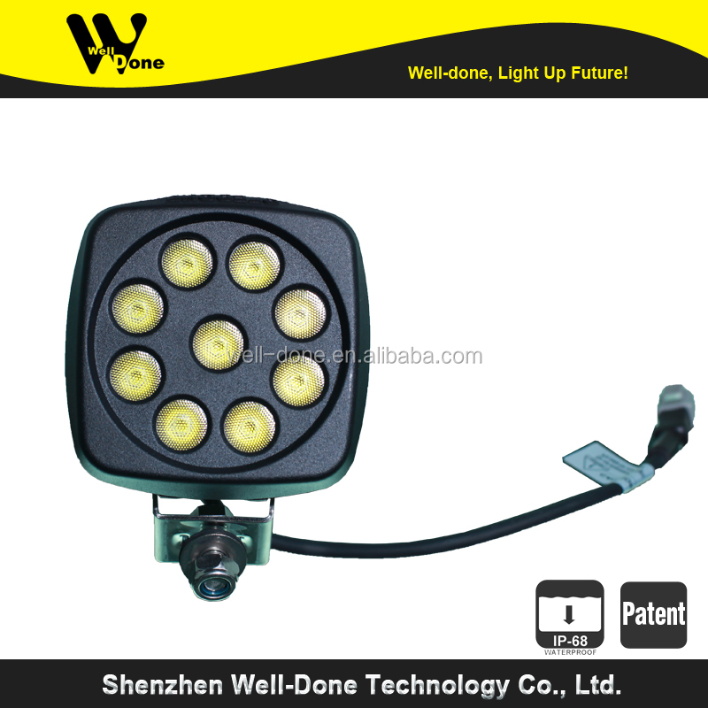 27W mini rechargeable led worklight, 2700 lumens fire truck light IP68