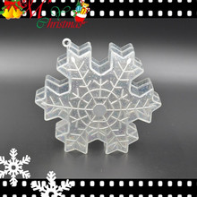 Mini Snownflake Shape Candy Container with Eyelet Christmas Tree Ornament