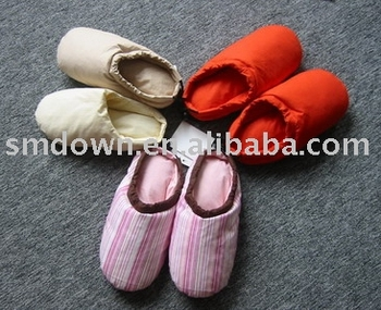 down duvet indoor slipper/low duvet slipper