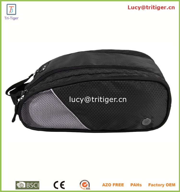 Fashion Portable Waterproof Double Storehouse Travel Shoe Storage Bag Tote Bag Case Organizer Pouch Composition, a Great Helper